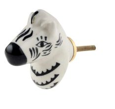 Zebra Head Pattern Ceramic Cabinet Knobs