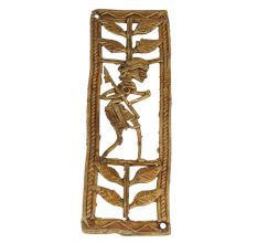 Ravishing Brass Metal Lone Hunter In Jungle Artwork