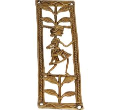 Charming Rural Women Dancing Brass Metal Artwork