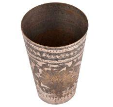 Big Flower Design Brass Punjabi Glass
