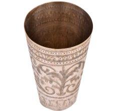Brass leafy Pattern Lassi Glass