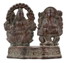 Handmade Antique Brass Lord Laxmi Ganesha Statue