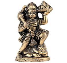 Handmade Golden Brass Lord Hanuman Statue