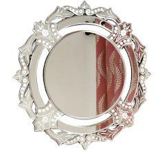 Handmade Silver Glass Venetian Round Decorative Mirror