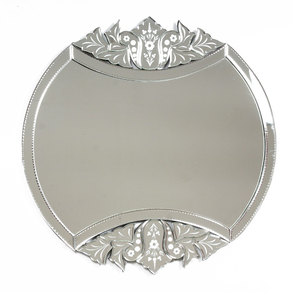 Handmade Silver Glass Unique Venetian Mirror With Engraved Design