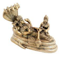 Brass Lakshminarayan Statue