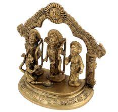 Lord Ram And Sita With Lakshman And Hanuman