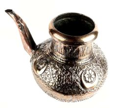 Floral Design Copper Water Pot With Stout