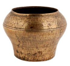 Handmade Brown Brass Vase Or Flower Pot