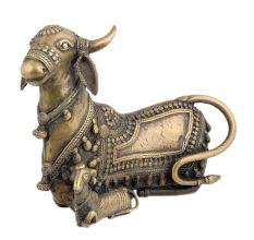 Tribal Cow With Calf Sitting Yantra For Your Success