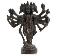 Panchamukhi Or 5 Headed Hanuman Standing Figure In Stylish Brass