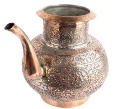 Vintage Copper Pot Sagar Carved Very Finally